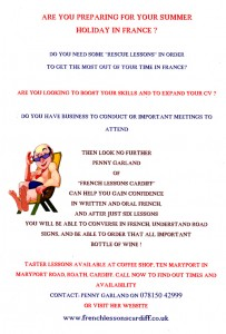 French Lessons Cardiff Holiday Poster